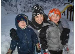 Me and the boys in the snow